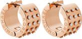Michael Kors Rose-gold and crystal hoop earrings