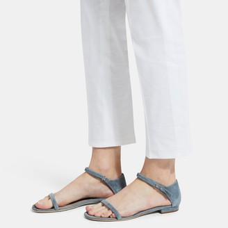 Theory Flat Sandal in Suede