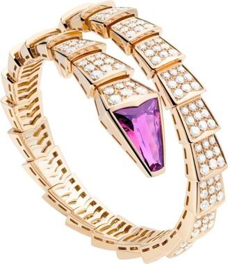 Bvlgari Rose Gold, Diamond and Ruby Serpenti Bracelet