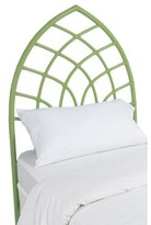 David Francis Furniture Cathedral Twin Open-Frame Headboard Color: Celery Green