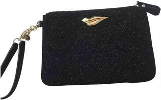 Diane von Furstenberg Black Glitter Clutch bags