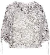See by Chloe Printed Silk-Chiffon Top