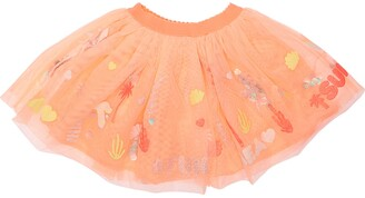 Billieblush Stretch Tulle Skirt W/ Sequins & Glitter