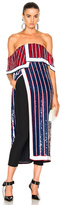 Monse Sequin Embellished Top in Blue,Red,Stripes,White.