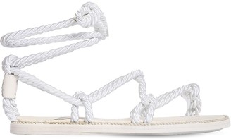 Ann Demeulemeester 10mm Satin Rope Thong Flat Sandals