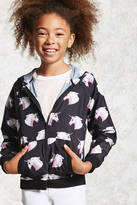 FOREVER 21 girls Girls Unicorn Windbreaker (Kids)