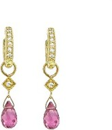 Jude Frances Pink Tourmaline Briolette Earring Charms - Yellow Gold