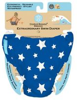 Charlie Banana Size Small Extraordinary Swim Diaper in Blue/White Stars