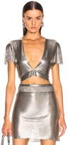 Fannie Schiavoni Diane Top in Silver | FWRD