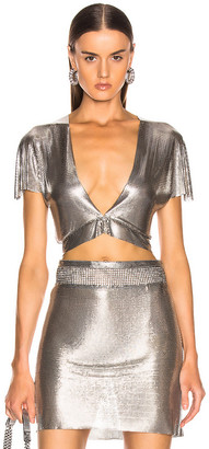 Fannie Schiavoni Diane Top in Silver | FWRD