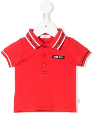 Boss Kidswear Stripe Detailed Polo Shirt