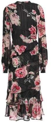 Walter Baker Emiko Tiered Floral-print Georgette Midi Dress