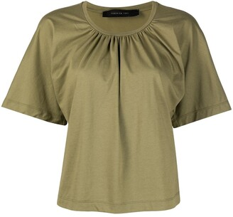 FEDERICA TOSI gathered neck short sleeve T-shirt