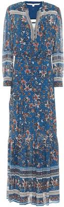 Veronica Beard Sama floral silk fil coupe maxi dress