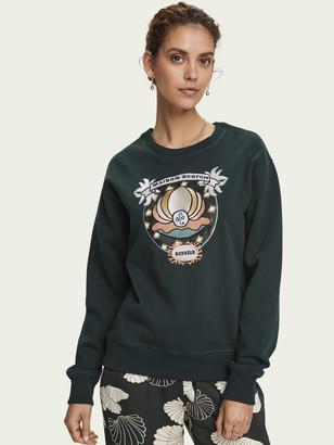 Scotch & Soda Long sleeve cotton artwork sweatshirt   Women