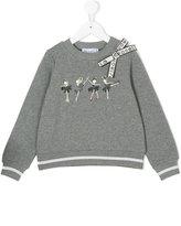 Simonetta sweatshirt with bow and ballerina print