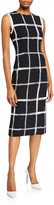 Derek Lam Jason Wu Collection Windowpane Crepe Sheath Dress
