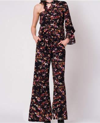 Wanderlux Floral Print Mini Length Elastic Waist Jordan Pant