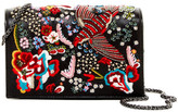 Alice + Olivia Bird Party Embroidered Clee Leather Clutch