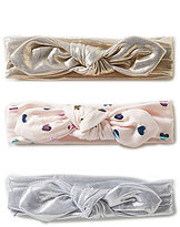 Starting Out Baby Girls 3-Pack Metallic Headwraps