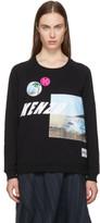 Kenzo Black Raglan Patched Sweatshirt