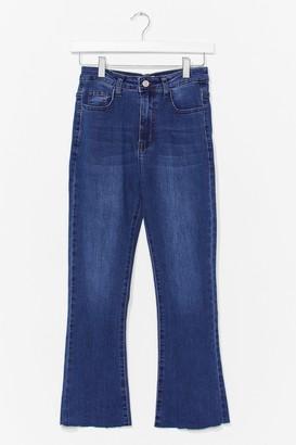 Nasty Gal Womens Kick Flare Cropped Jean - Blue - 6