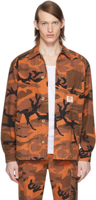 McQ Orange Camo Marshall Shirt Jacket