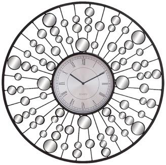 Willow Row Grey/Black Contemporary Radial Molecular Wall Clock