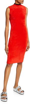 Splendid Pluma Sleeveless Mock-Neck Sweater Dress