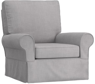 Pottery Barn Kids PB Kids Grand Slipcovered Comfort Swivel Glider & Ottoman