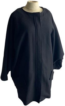April May Black Wool Coat for Women