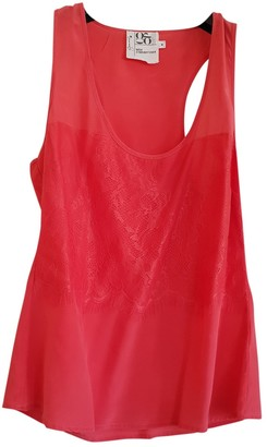 Barneys New York Pink Silk Top for Women