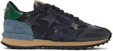Valentino Navy Star Rockrunner Sneakers