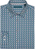 Perry Ellis Multicolor Rectangle Jacquard Shirt