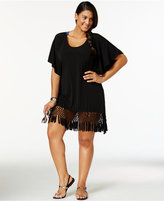 Dotti Plus Size Macrame Fringe Cover-Up