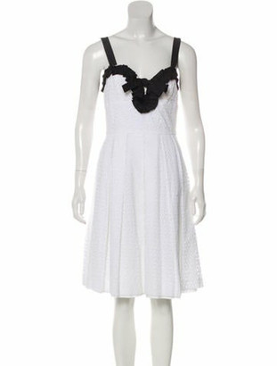 Oscar de la Renta Sleeveless Mini Dress White