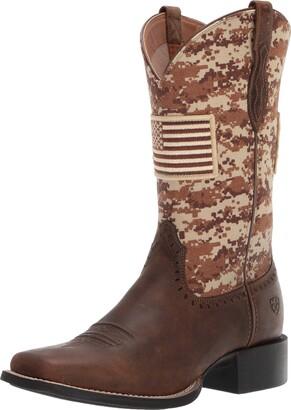 Ariat Women's ROUND UP PATRIOT Boot