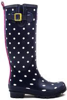 Joules Blue Printnst Welly Print Navy