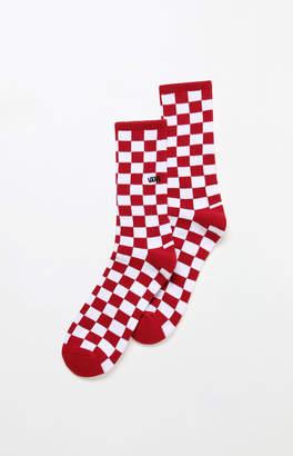 Vans Red Checkerboard Crew Socks