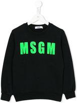 MSGM logo front sweatshirt - kids - Cotton - 6 yrs
