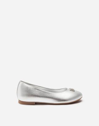 Dolce & Gabbana Laminated Nappa Leather Ballet Flats