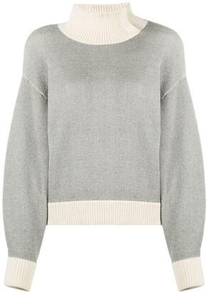 3.1 Phillip Lim High Neck Ribbed Sweatshirt