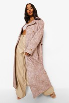 Thumbnail for your product : boohoo Woven Printed Tie Dye Trench Coat