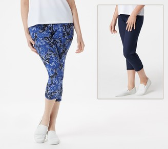 Women With Control Women with Control Renee's Reversibles Petite Crop Pants