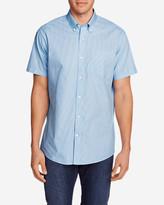 Eddie Bauer Men's Wrinkle-Free Classic Pinpoint Oxford Short-Sleeve Shirt - Seasonal