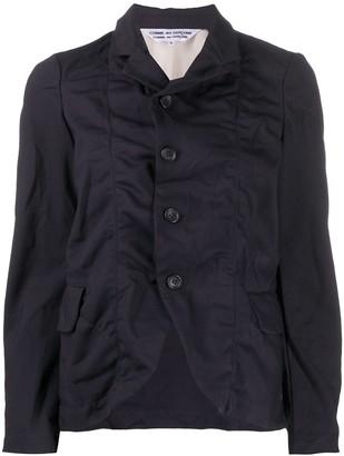 Comme des Garçons Comme des Garçons Crinkled Effect Front Slit Jacket