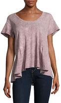 Current Elliott Linen-Blend Ruffle-Hem T-Shirt