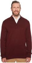 Nautica Big Tall 12GG 1/4 Zip Jersey Sweater Men's Sweater