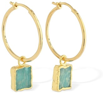 Missoma Medium Amazonite Charm Hoop Earrings