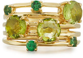 Ippolita Lollipop® Constellation 18k Mixed Gem Ring, Green, Size 7